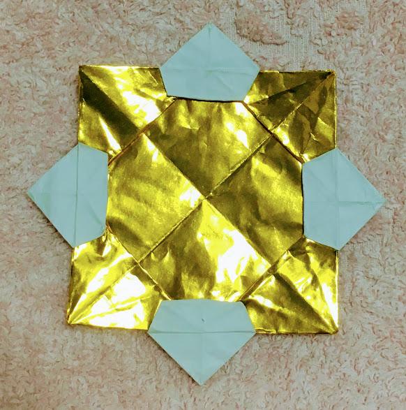 折り紙メダルの色反対にした完成図