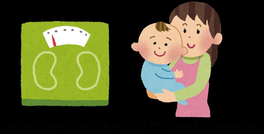 赤ちゃんの体重の測り方