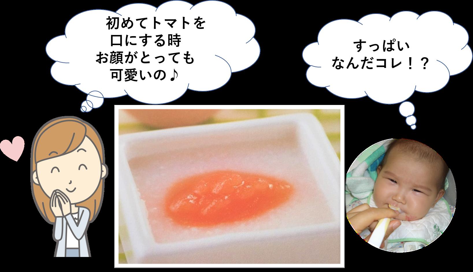 離乳食「トマト粥」