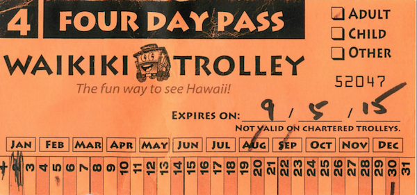waikiki trolley 4day pass