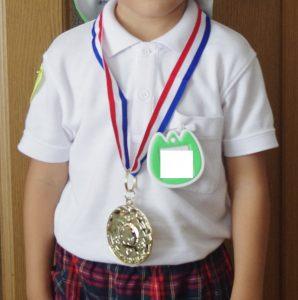 運動会のメダル