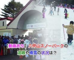 Rokko Mountain Snow Park congestion Eye-catching image