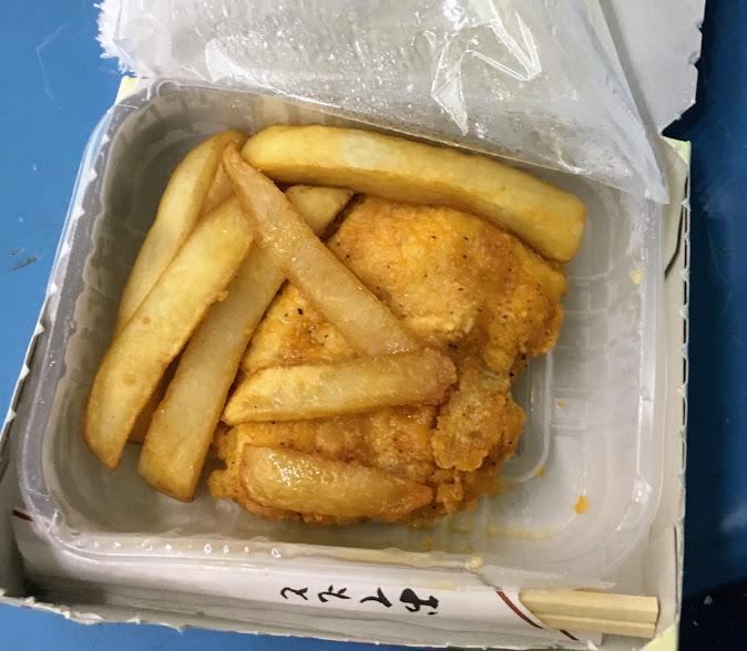 パピオアイスアリーナのチキン&ポテト