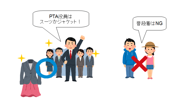 PTA 総会 服装 役員
