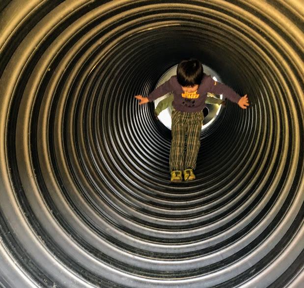 えぼしスポーツの里のトンネル中