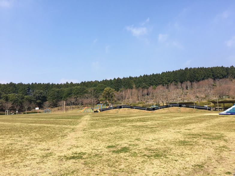 えぼしスポーツの里の大芝生広場