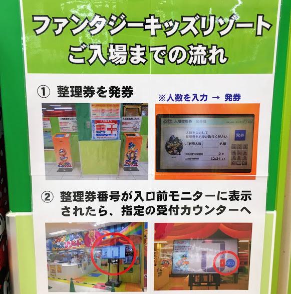 ファンタジーキッズリゾート福岡の発券方法