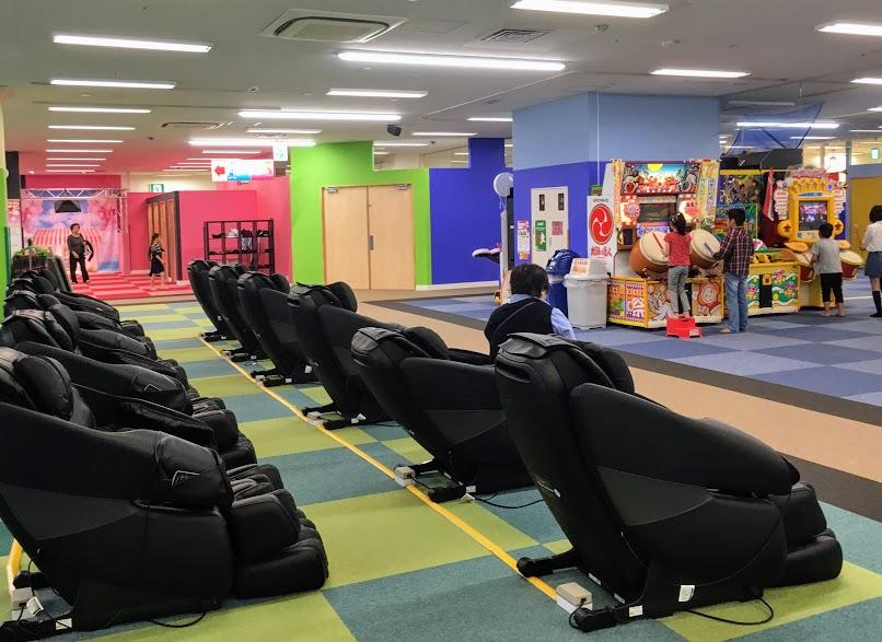 ファンタジーキッズリゾート福岡のマッサージチェア