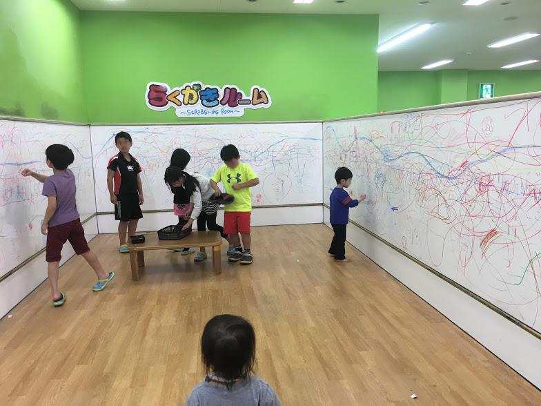 ファンタジーキッズリゾート福岡のらくがきコーナー