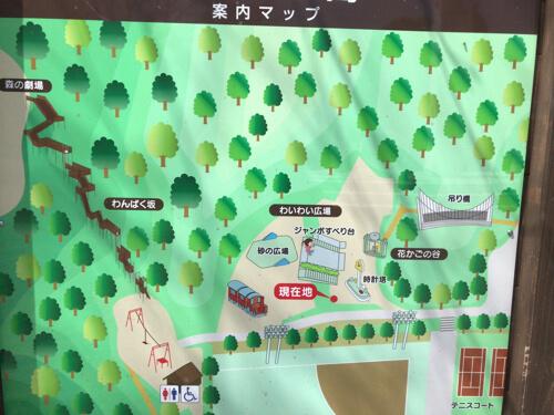 むろいけ園地の森の宝島のマップ