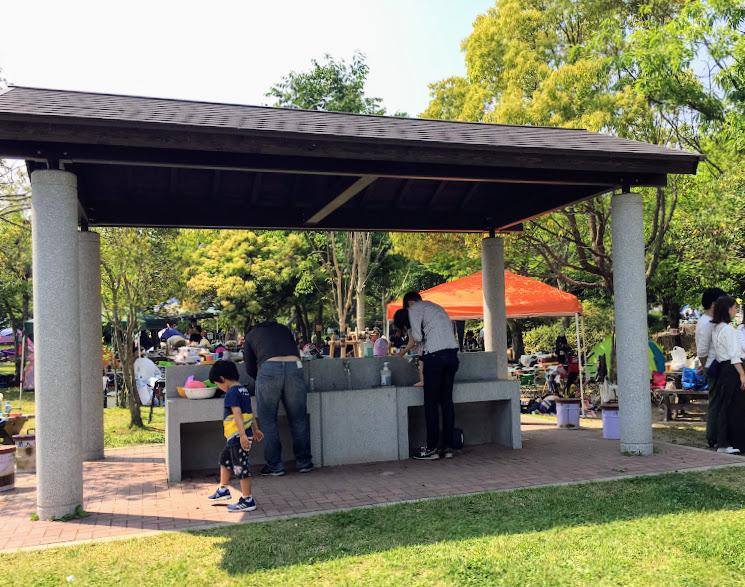 吉野ヶ里歴史公園野外炊飯コーナーの洗い場