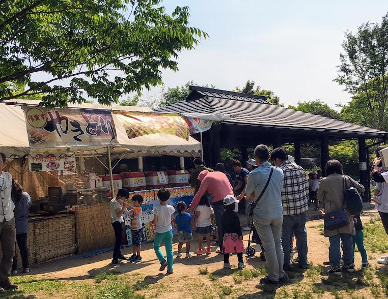 吉野ヶ里歴史公園の販売テント