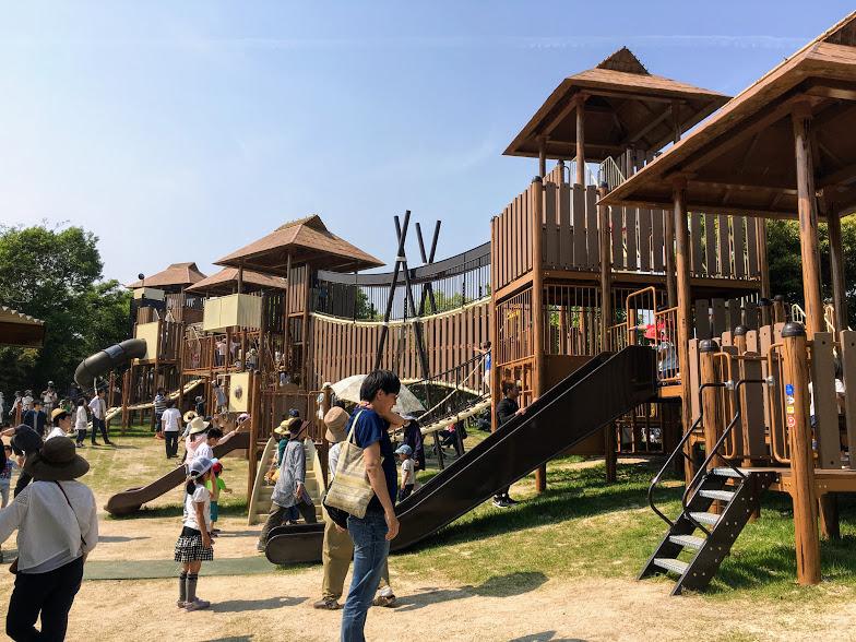吉野ヶ里歴史公園のアスレチック