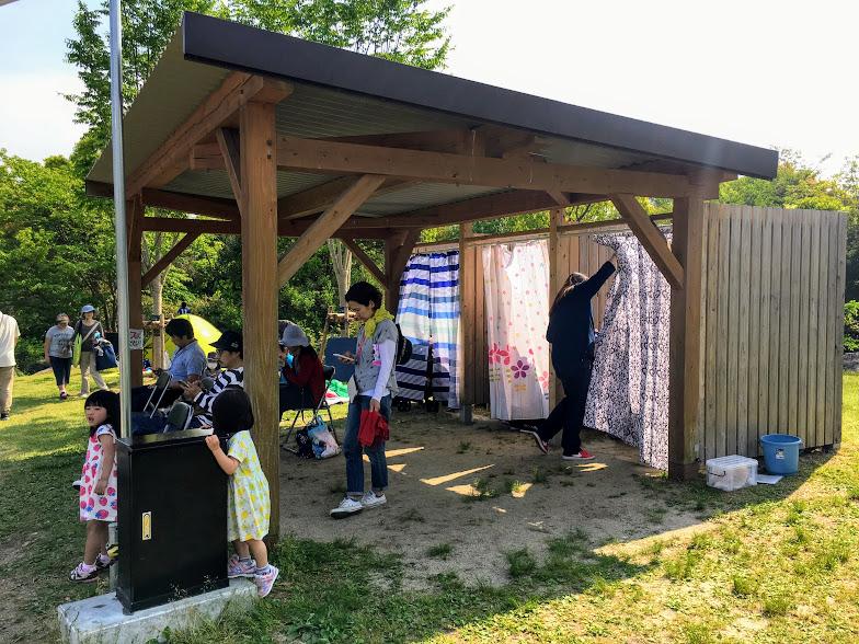 吉野ヶ里歴史公園水遊び場の着替え場所