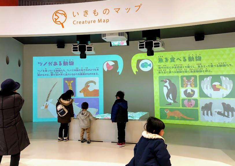 福岡市動物園のいきものマップ