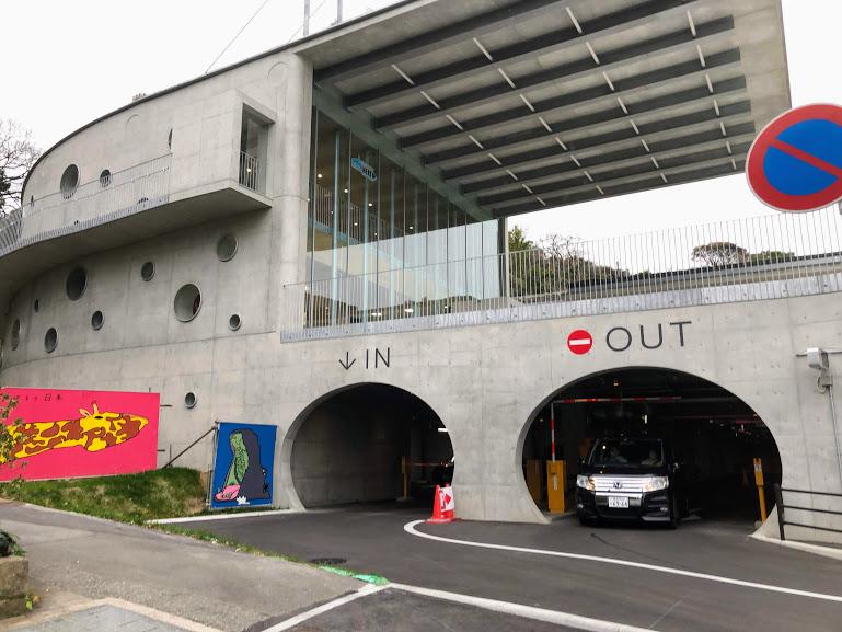 福岡市動物園地下駐輪場入口拡大写真