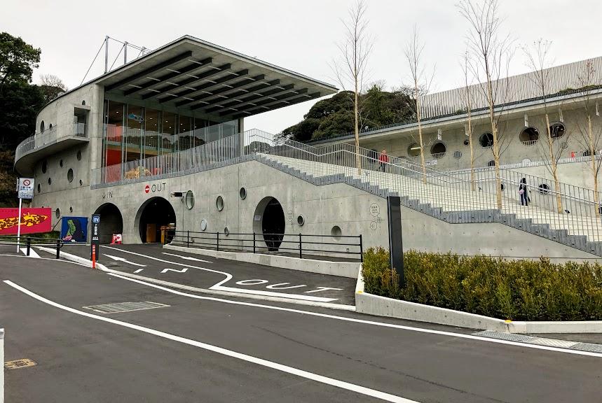 福岡市動物園地下駐車場入口付近