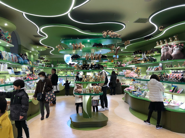 福岡市動物園のグッズ売り場