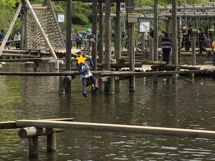水上ロープウェイ